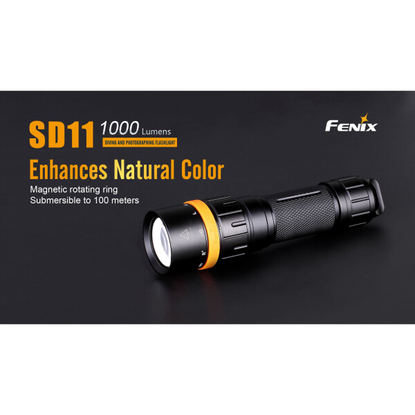 Fenix SD11 LED Tauchlampe