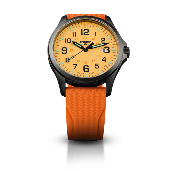traser P67 Officer Pro GunMetal Orange - Kautschukband