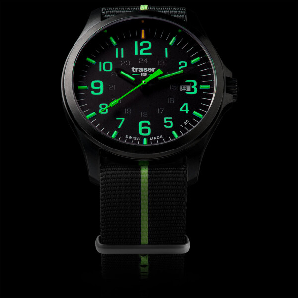 traser P67 Officer Pro GunMetal Black/Lime - Textilband