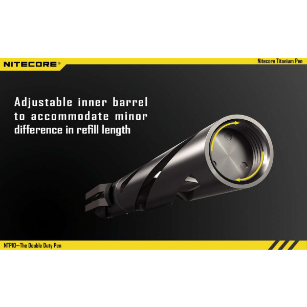 Nitecore NTP10 Tactical Pen Titan